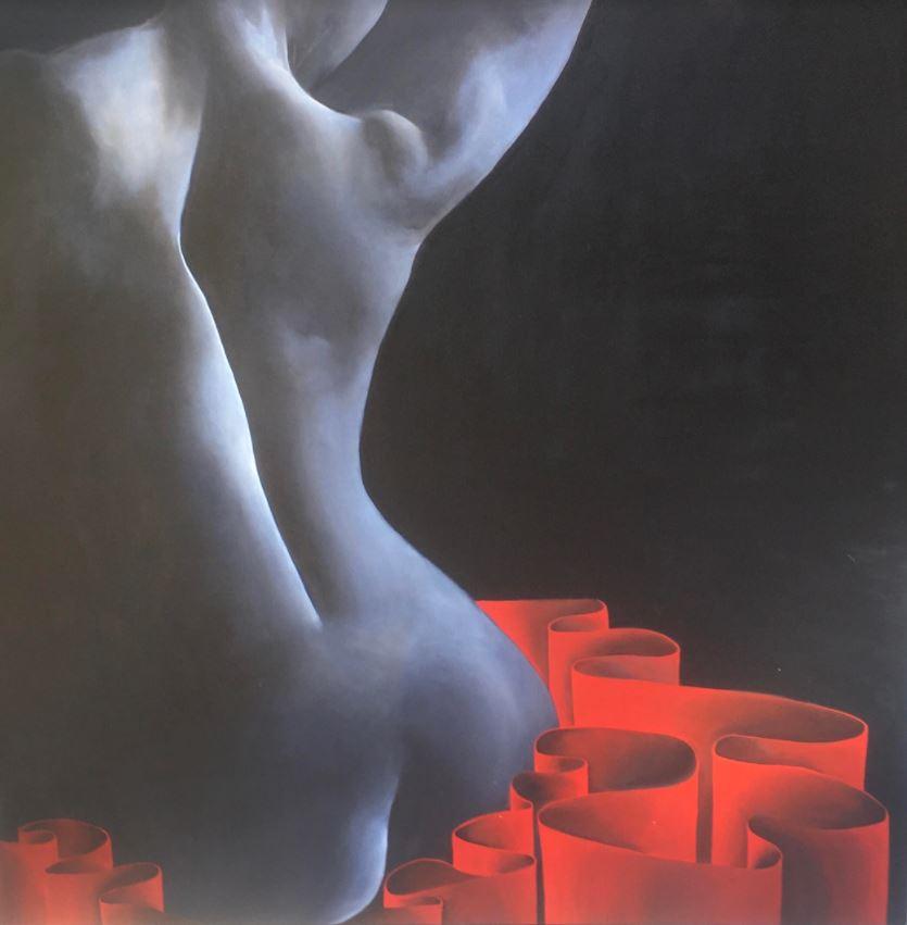 Cinzia-Cotellessa-Ribbons-olio-su-tela-100x100-anno-2020Galleria Studio CiCo