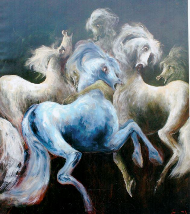 giostra-di-cavalli-olio-su-tela-180x163-anno-2009Galleria Studio CiCo