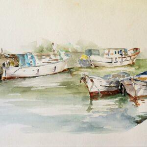 Giovanni-Di-Stefano-Barche-in-porto-Acquerello-35x70-1980-300x300Giovanni Di Stefano